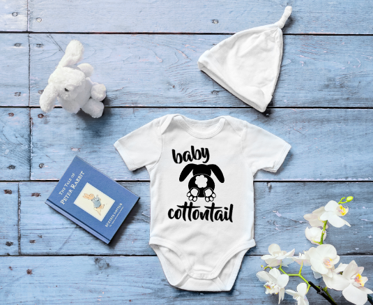 Baby Cottontail Mockup Screen Print Transfer 2