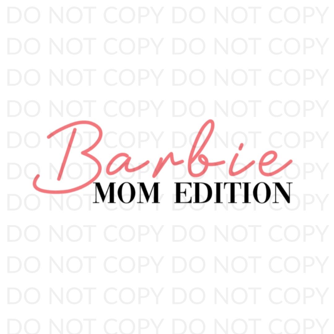 Barbie Mom Edition Digital Design