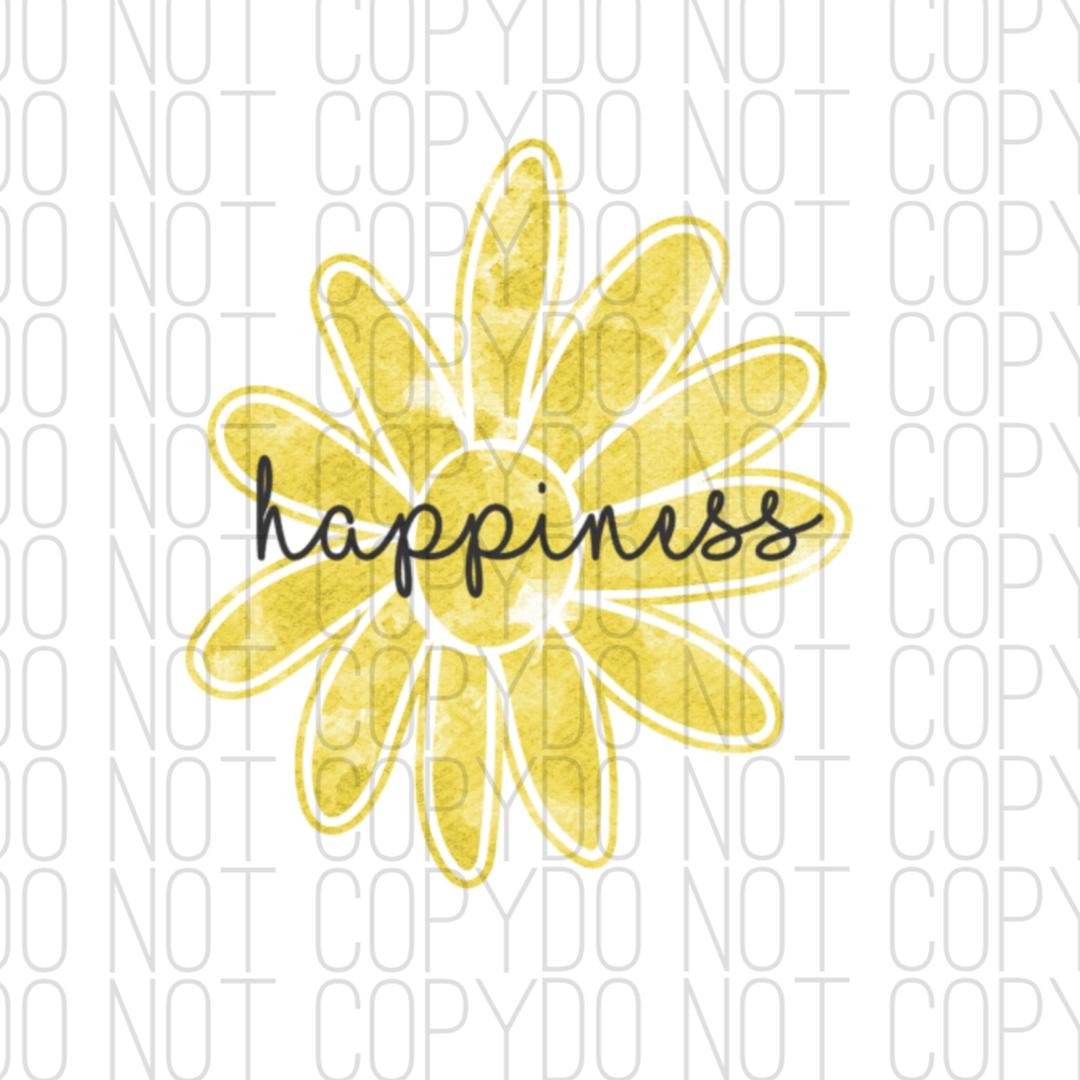 Happiness Flower Digital Design