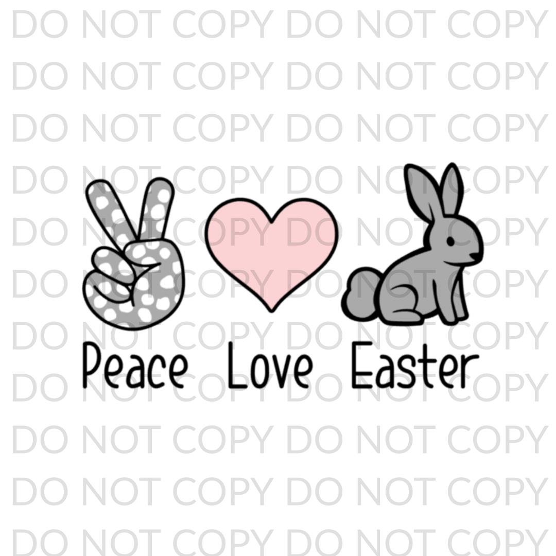 Peace Love Easter Digital Design