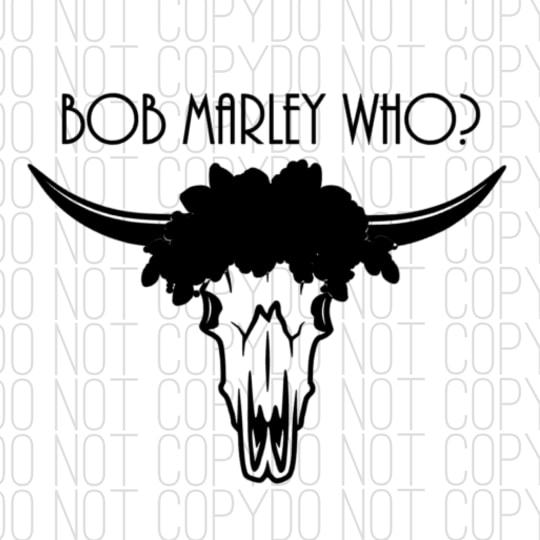 Bob Marley Who Digital Design