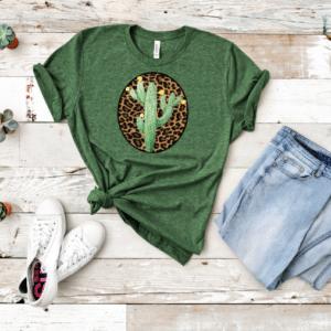 Boho Cactus Green Mockup Screen Print Transfer
