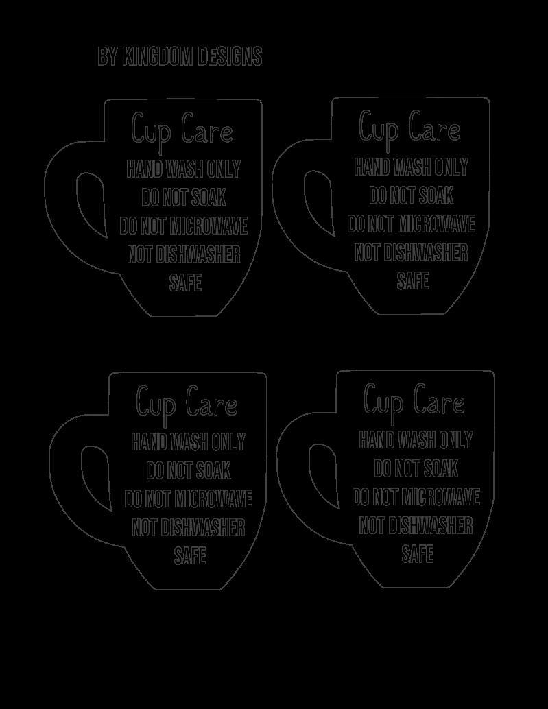 T Shirt Cup Care Card Digital Designs Kingdom Designs