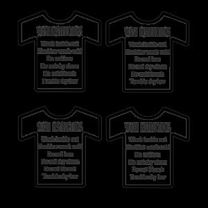 T-Shirt Care Card Print & Cut