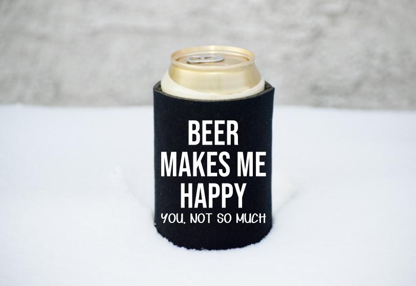Beer Makes Me Happy Mockup