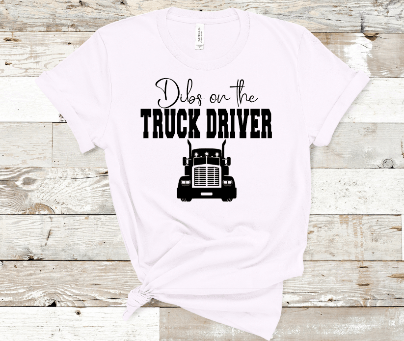 Dibs On the Truck Driver Mockup