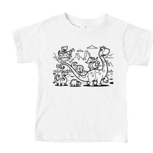 Dinosaur Kids Coloring Print