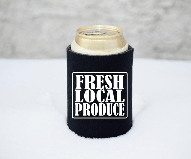 Fresh Local Produce Koozie Mockup