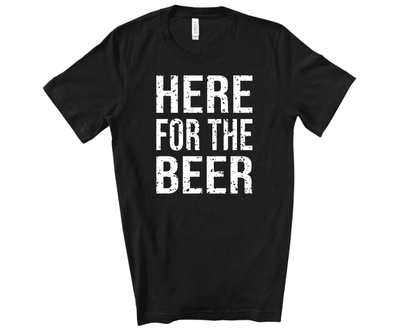 Here For The Beer Mockup