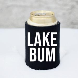 Lake Bum Koozie Mockup