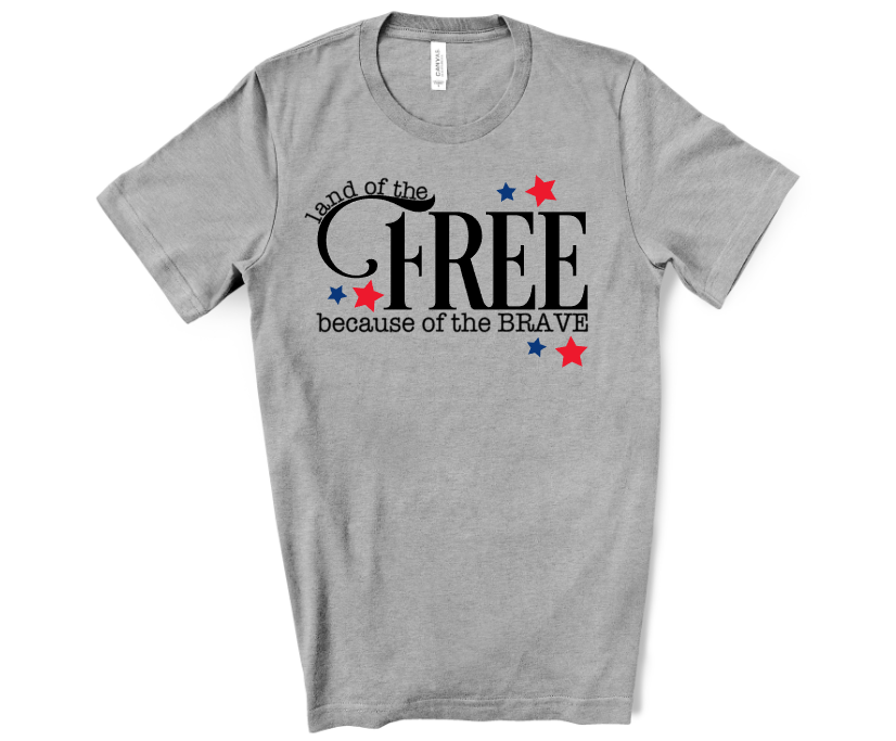 land of the free because of the brave men