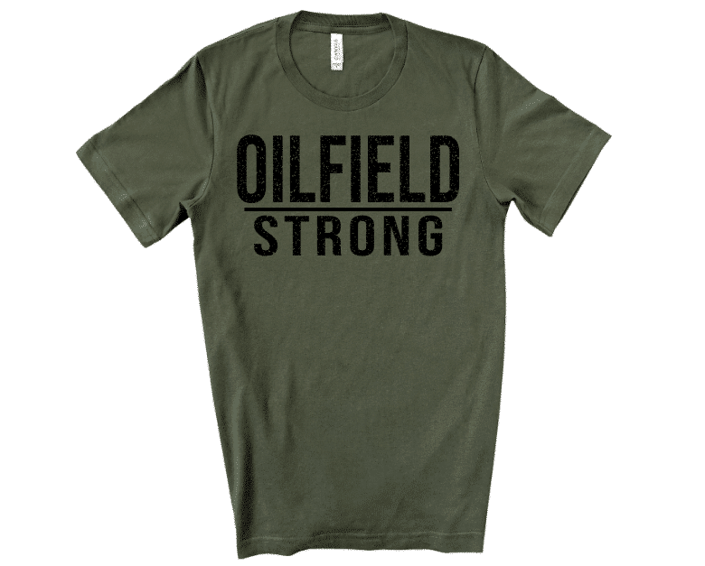 Oilfield Strong Army Green Mockup