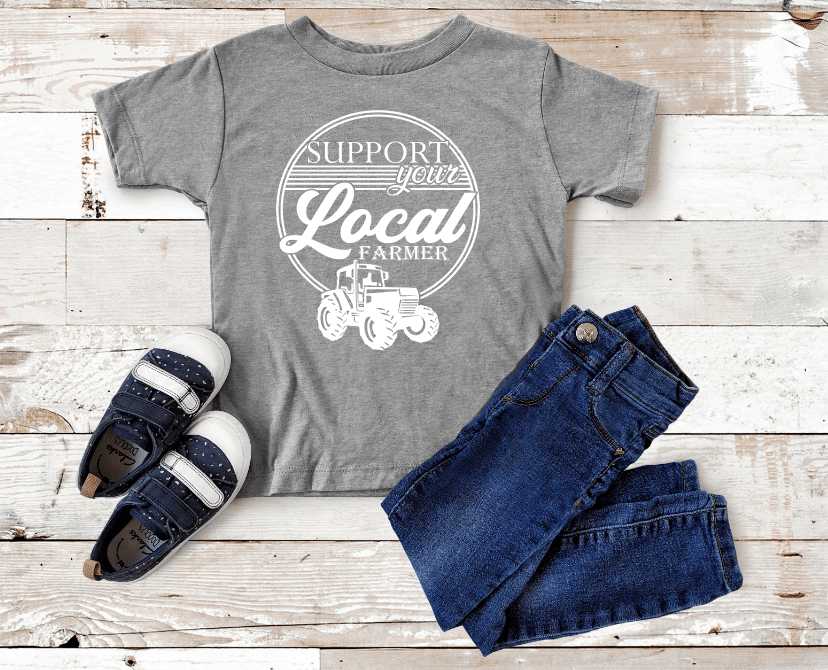 Support Your Local Farmer Kids Mockup