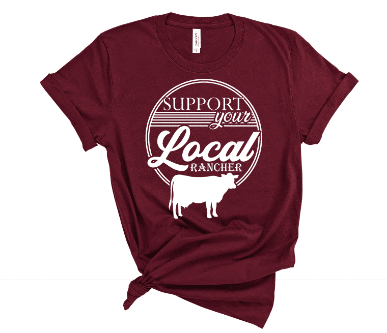 Support Your Local Rancher Mockup