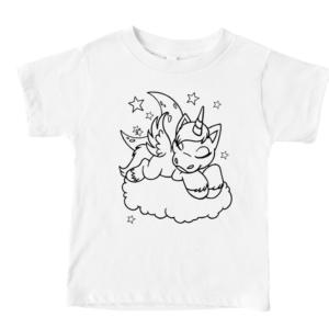 Unicorn Kids Coloring Shirt Mockup