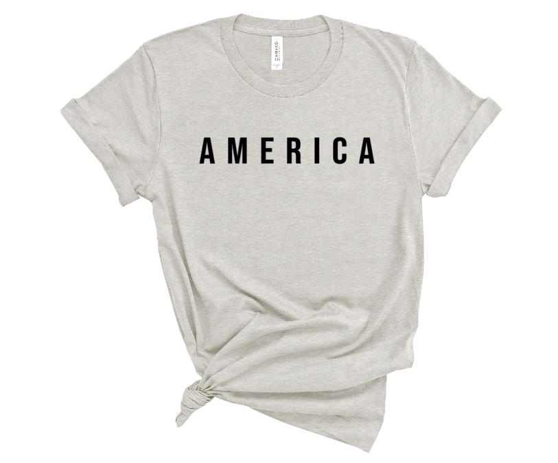 America Screen Print Transfer