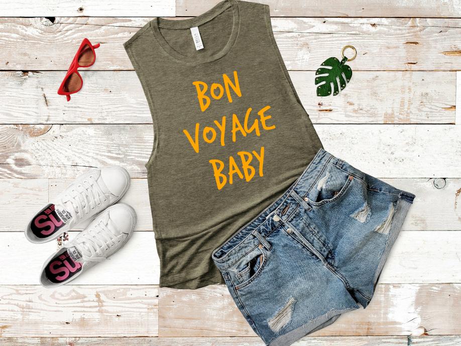 Bon Voyage Baby Screen Print Transfer