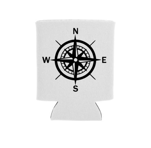 Compass Koozie Screen Print Transfer