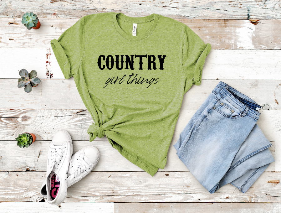 Country Girl Things screen print transfer