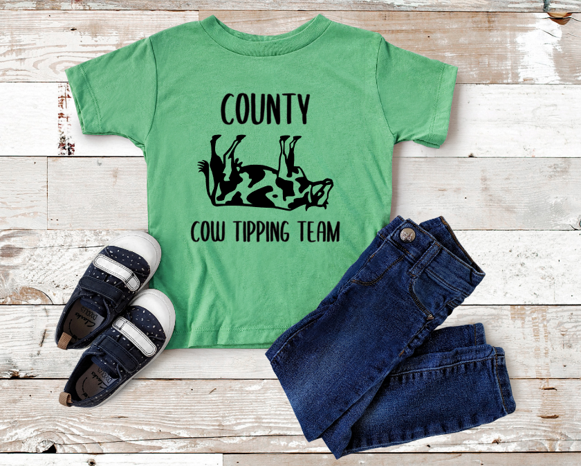 county cow tipping team screen print transfer