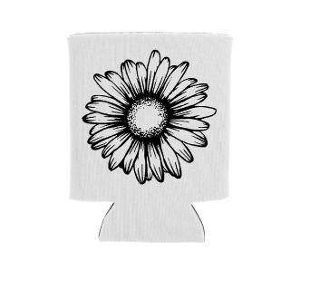daisy flower screen print transfer
