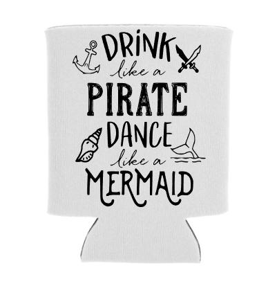 Drink Like A Pirate Koozie Screen Print Transfer