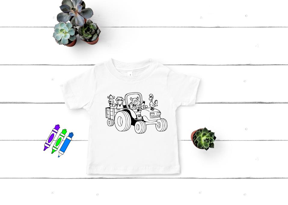 Farm Coloring Shirt Mockup