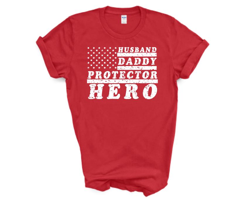 husband daddy protector hero mockup