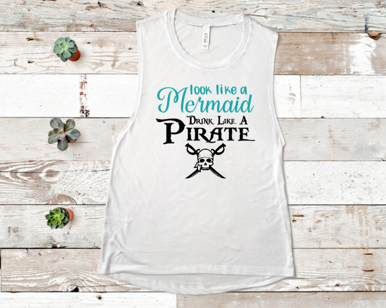 Look Like A Mermaid Screen Print Transfer