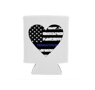 police heart screen print transfer