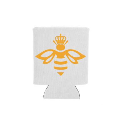 Queen Bee White Koozie Screen Print Transfer
