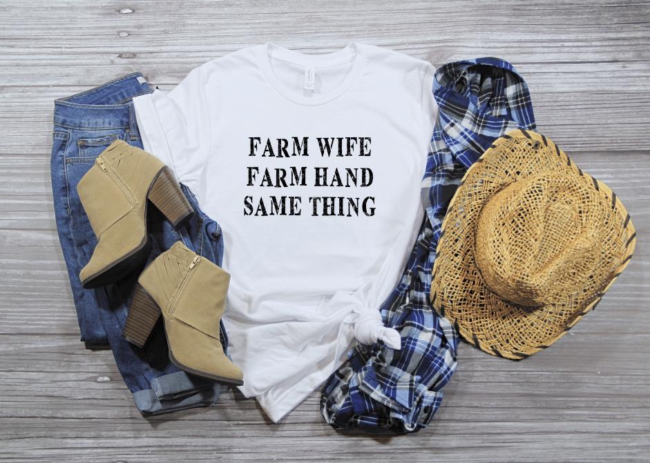 farm wife farm hand same thing