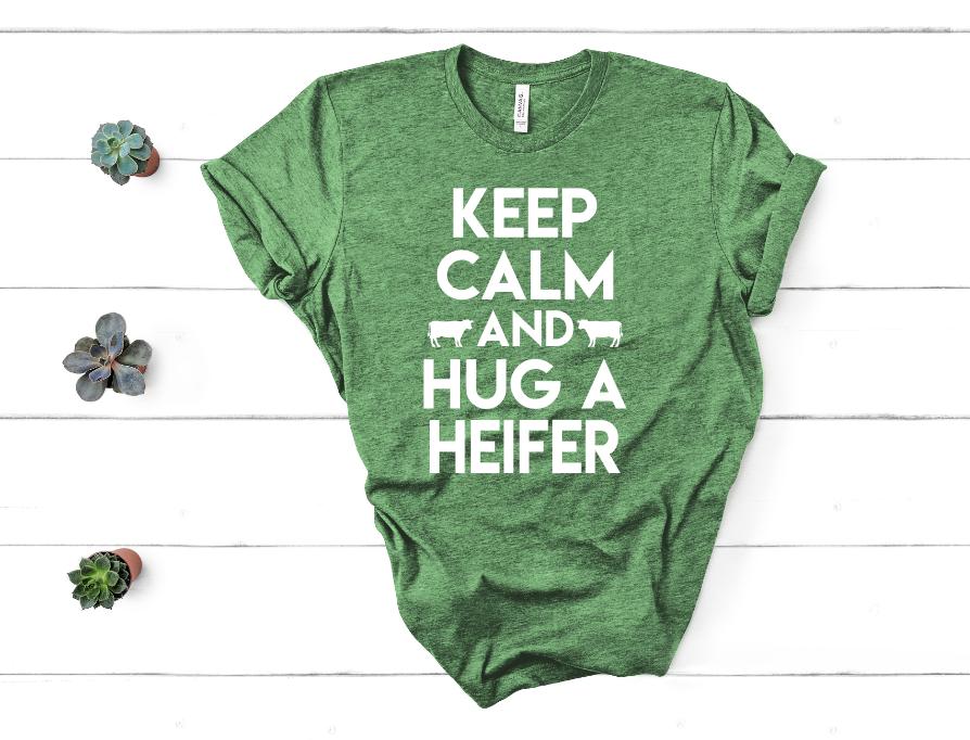 Hug A Heifer Screen Print Transfer