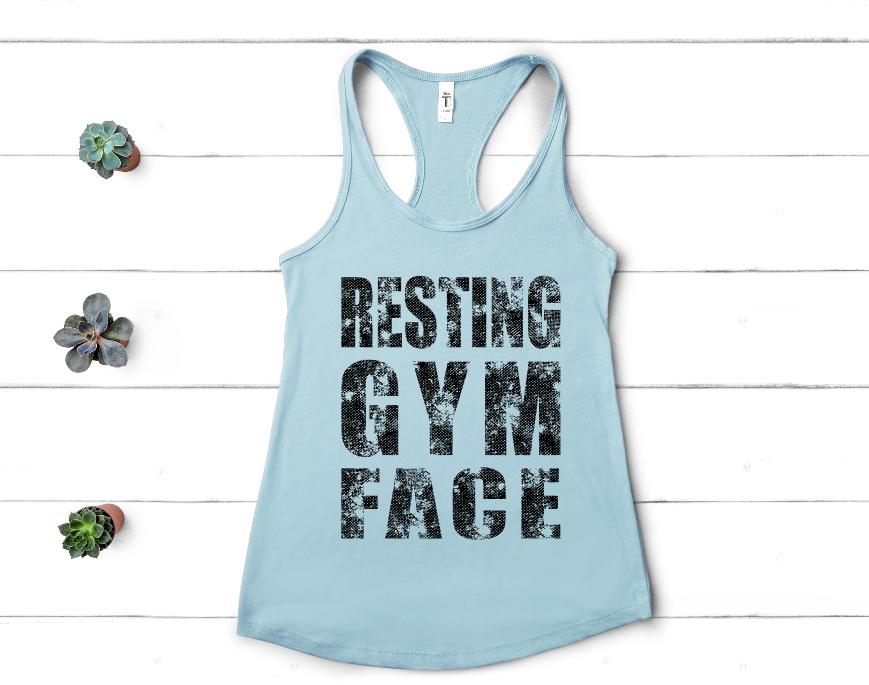 Resting Gym Face Screen Print Transfer