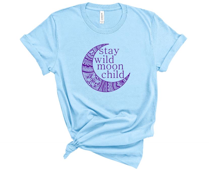 Stay Wild Moon Child Screen Print Transfer
