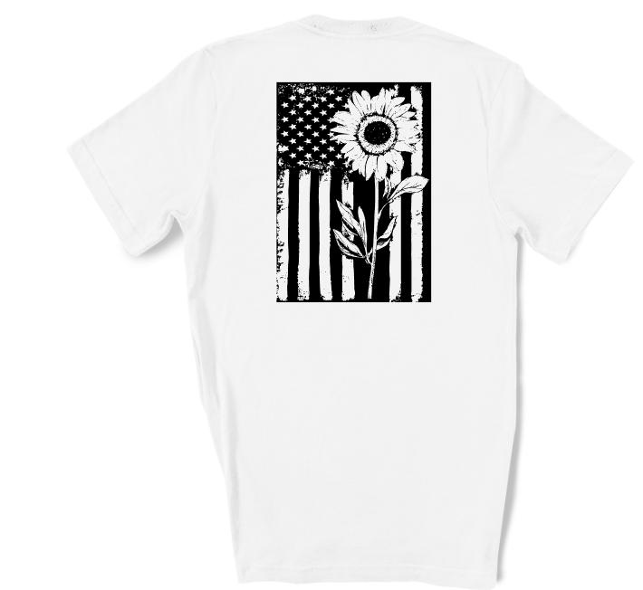 Sunflower Flag Screen Print Transfer