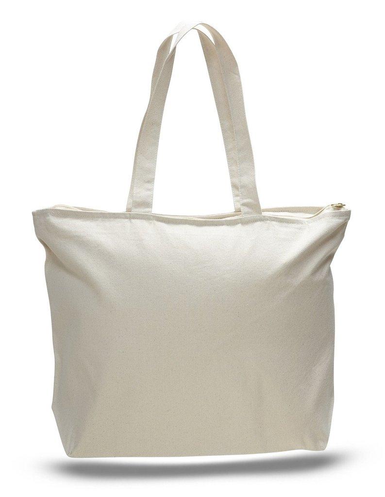 Zipper Tote Bag Blank