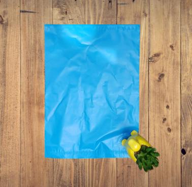blue poly mailer
