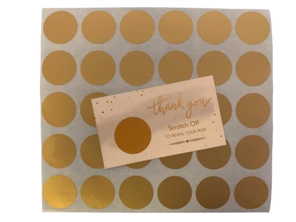 Customize Scratch off Card