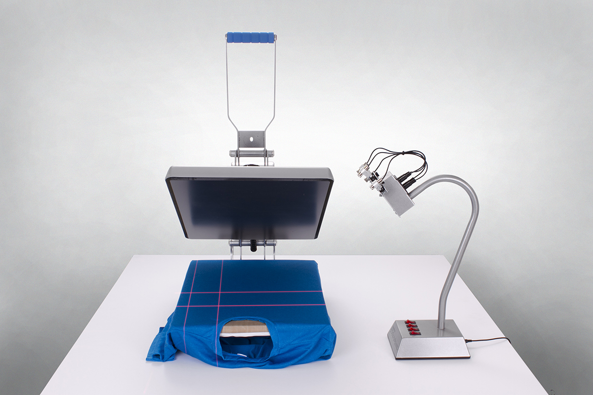 laser and heat press