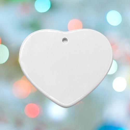 Ceramic Heart Ornamant Sublimation