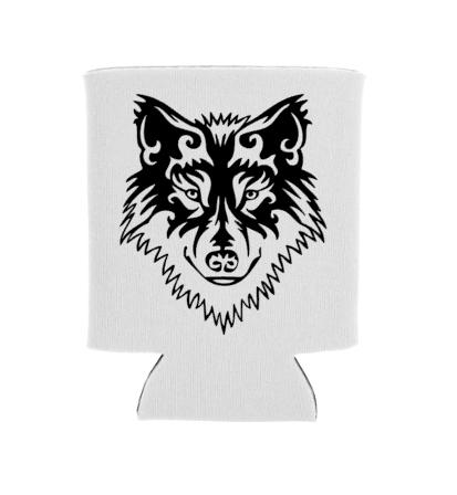 wolf koozie