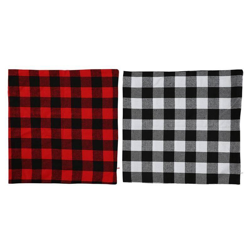 blank plaid pillowcase