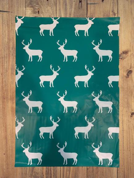 Christmas Reindeer Poly Bag