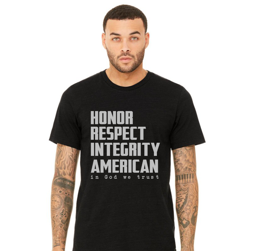 honor respect integrity american in God