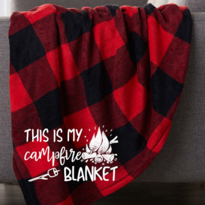this is my campfire blanket