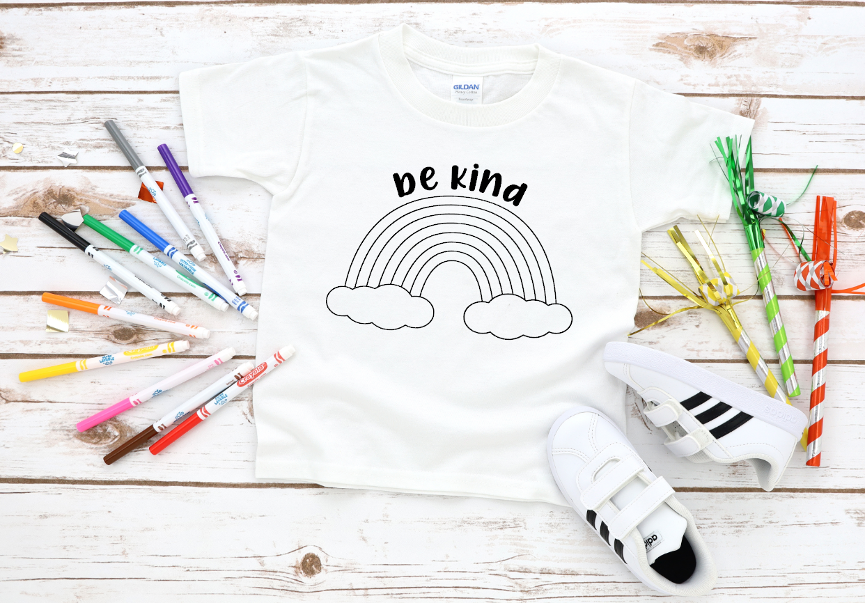 be kind rainbow coloring