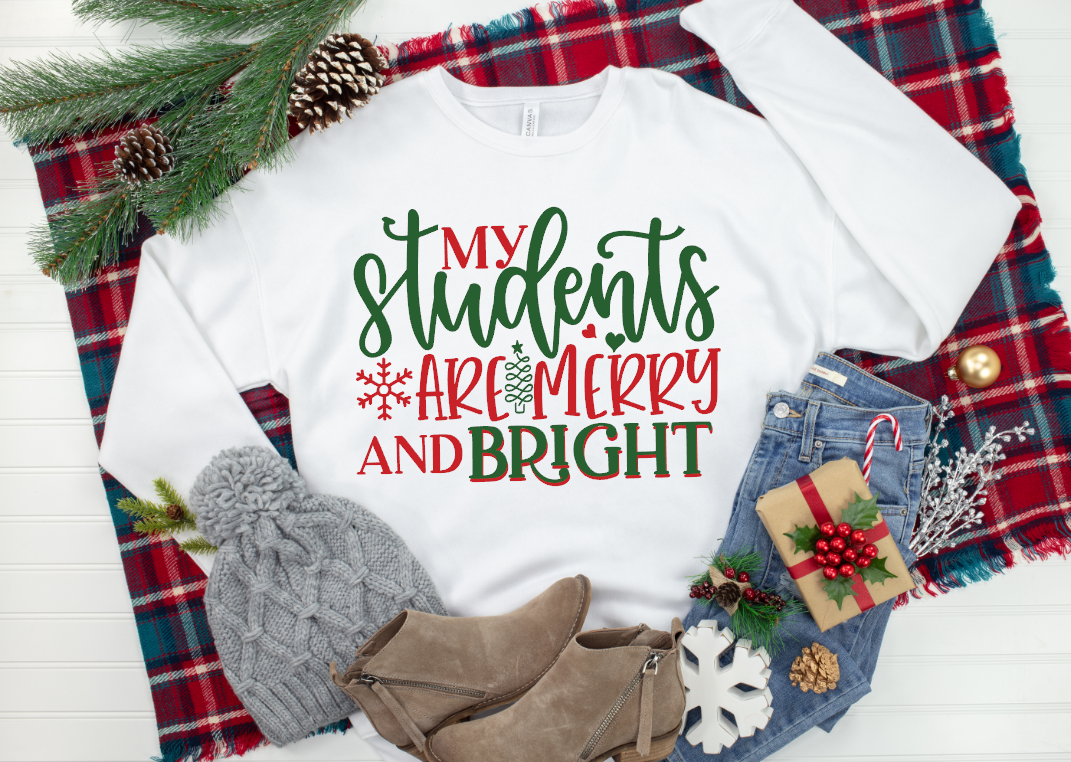 my students are merry and bright