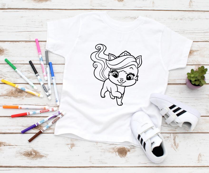 princess kitty coloring