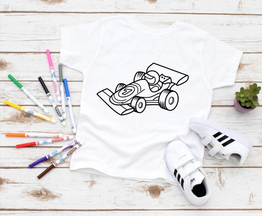 race car coloring